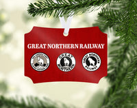 "Great Northern RY ""Rocky"" Ornament"
