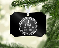 Norfolk & Western (N&W) Class J 611 Builder's Plate Ornament