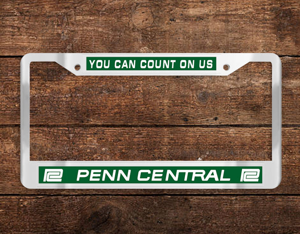 Penn Central (PC) Chrome License Plate Frame