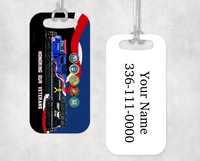 Norfolk Southern (NS) Veteran's Locomotive Luggage Tag