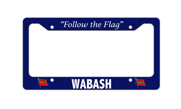 Wabash - Follow the Flag - License Plate Frame
