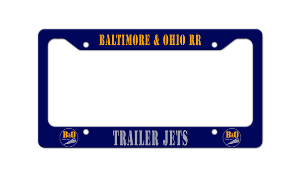Baltimore & Ohio (B&O) RR - Trailer Jets - License Plate Frame