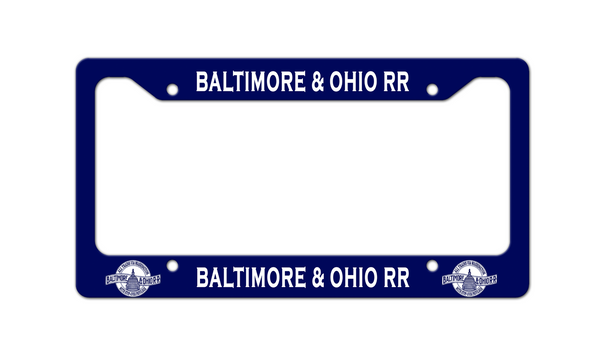 Baltimore & Ohio (B&O) RR - Thru DC - License Plate Frame