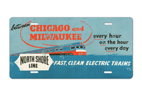 Chicago & Milwaukee North Shore Line License Plate