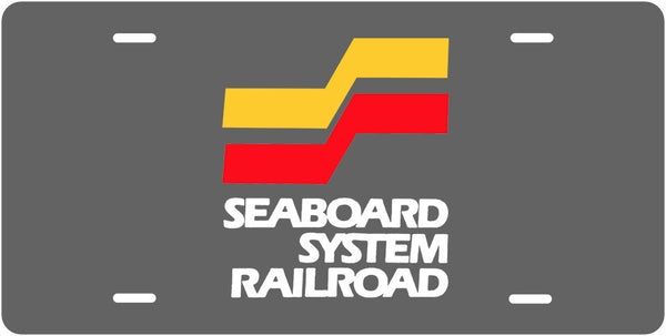 Seaboard System Railroad License Plate