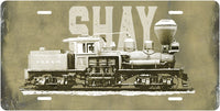 Shay Locomotive License Plate