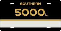 Southern Railway (SOU) CAB Number License Plate (Tuxedo Scheme)