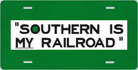 Southern Railway (SOU) - Southern is MY Railroad - License Plate