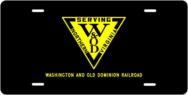 Washington & Old Dominion Railroad License Plate