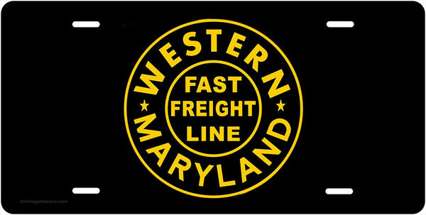 Western Maryland Fast Freight License Plate