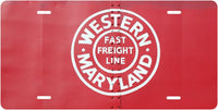 Western Maryland (WM) -Fast Freight - Box Car License Plate
