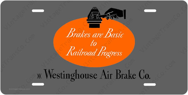 Westinghouse Air Brake Logo License Plate