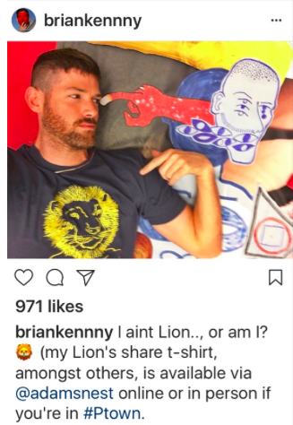 Brian Kenny Queer Artist Instagram Lion Graphic T