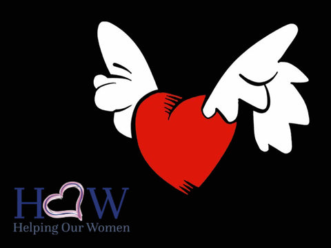 Flying Heart Helping our women graphic