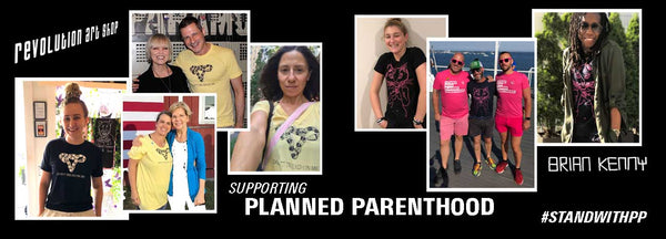 Items supporting planned parenthood at Adam's Nest