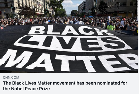 BLM Movement nominated Nobel Peace Prize