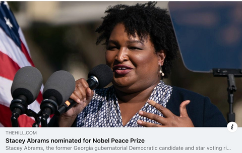 stacey abrams nominated nobel peace prize