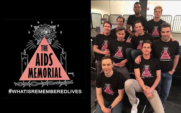 The AIDS Memorial T-shirt as seen on the cast of Boys In The Band