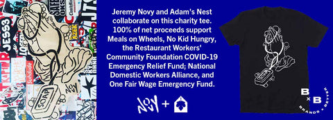 Jeremy Novy and Adam's Nest charity t-shirt