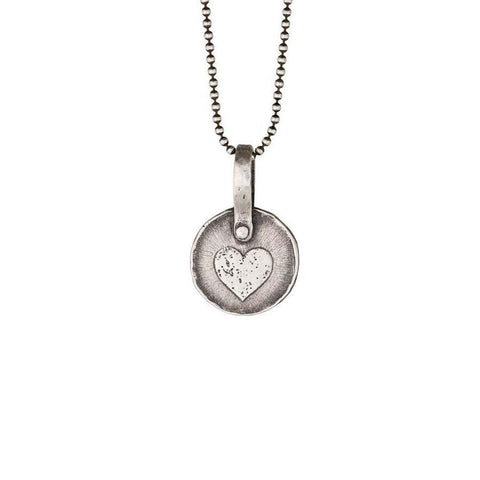 Keepsake Heart Necklace in Silver