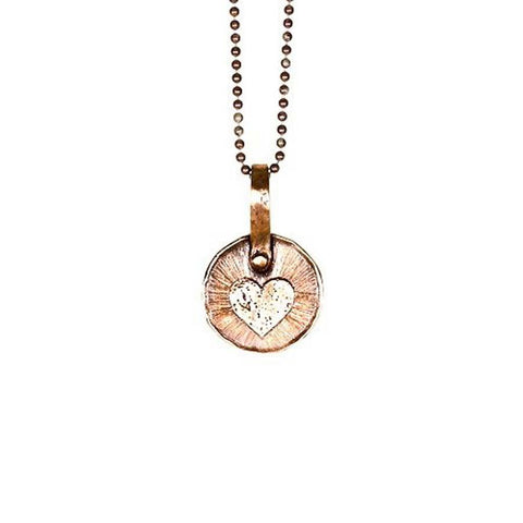 Keepsake Heart Necklace in Copper/Silver