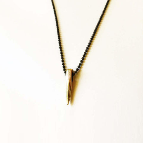 Thorn Necklace in Bronze