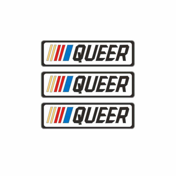 3 stripe queer pins