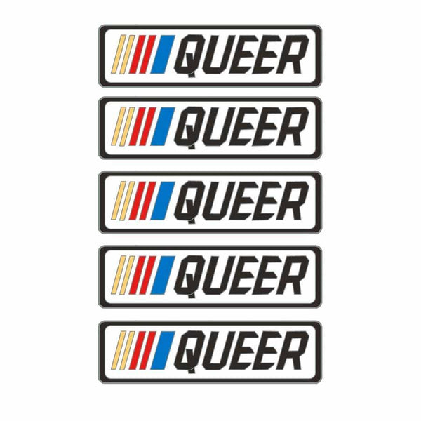 5 stripe queer pins