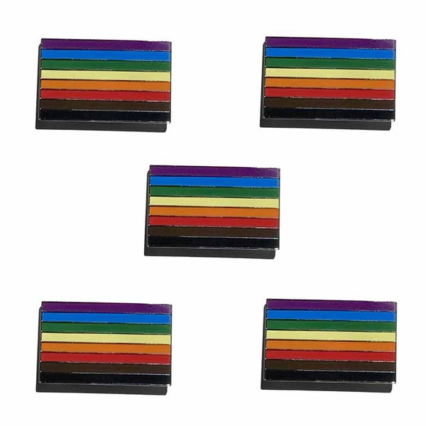 5 philly pride rainbow flag pins