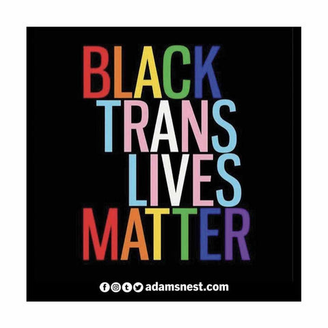 black trans lives matter sticker