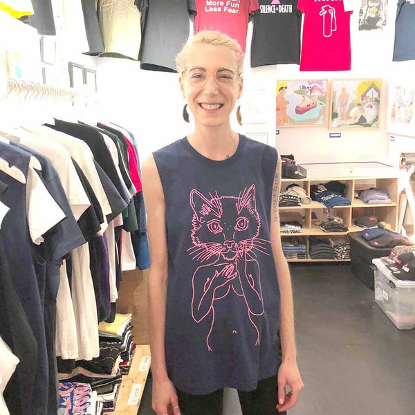 brian kenny Pink Pussycat Sleeveless T-shirt supporting Planned Parenthood adam's nest