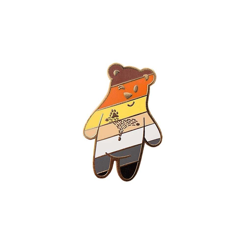 Bear Buddy enamel lapel pin gaypin' guys