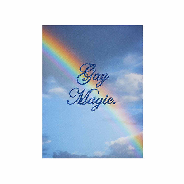 gay magic glitter rainbow clouds blue chris ironside