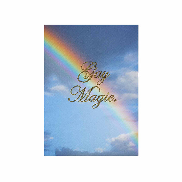 gay magic glitter rainbow clouds yellow chris ironside