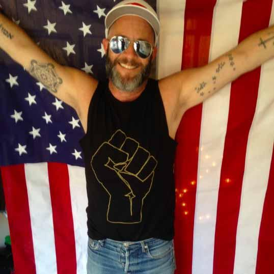 Solidarity Fist Sleeveless T-shirt  ACLU adam singer