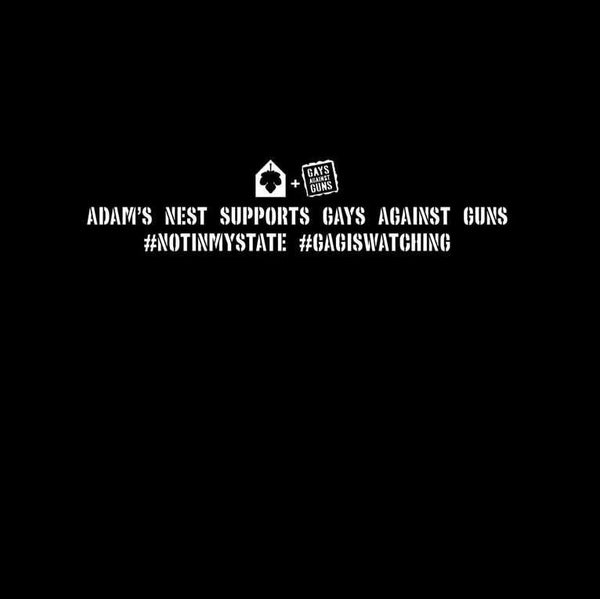 gays against guns adams nest t-shirt back art
