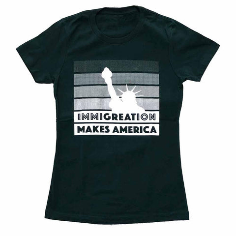 Immigration Women's T-shirt supporting RAICES forest green