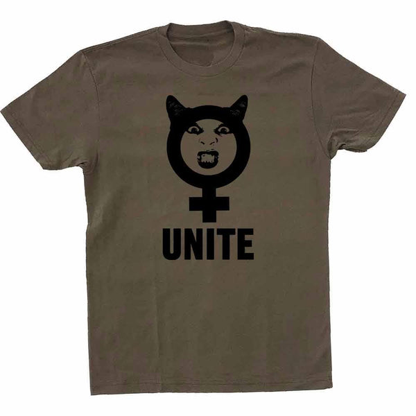 Unite T-shirt supporting Planned Parenthood military green kelly holohan