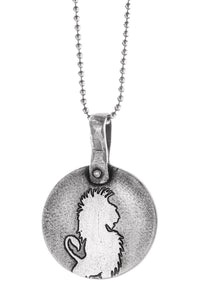 Lion Medallion on Sterling Silver Chain