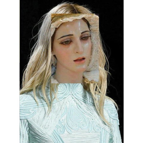 Naro Pinosa Crying Mary Postcard