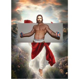 Naro Pinosa Jesus Tighty Whities Postcard