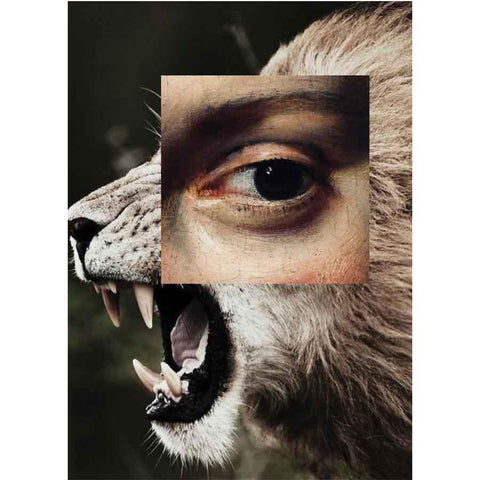 Naro Pinosa Lion Roar Eye Makeup Postcard