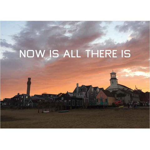 """Now Is All There Is"" Johnson Street Beach Postcard"