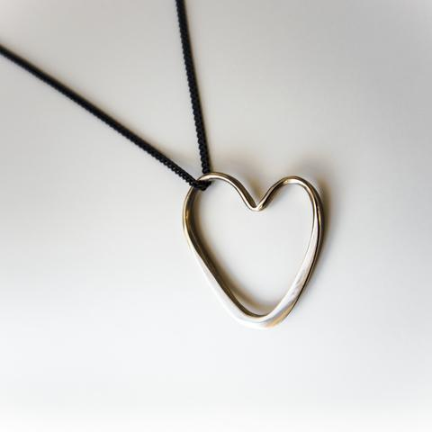 Open Heart Necklace in Sterling Silver
