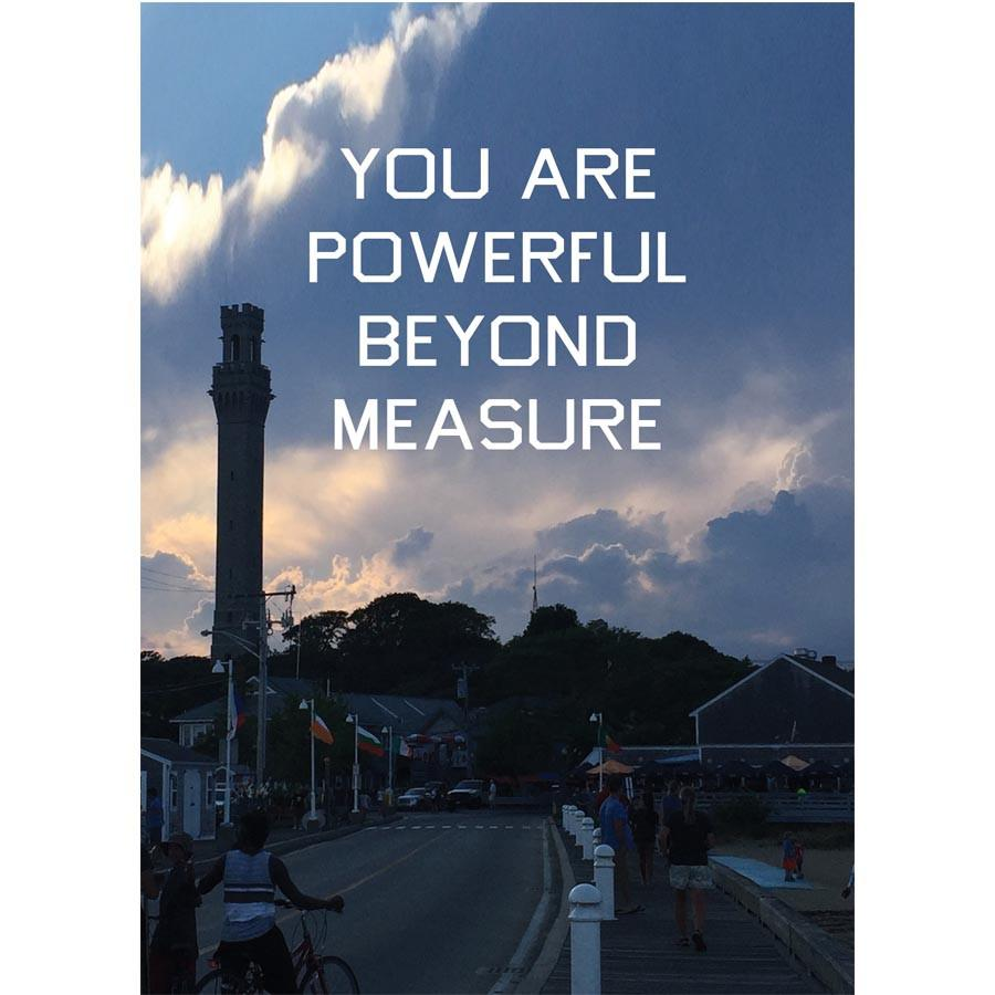 """You Are Powerful Beyond Measure"" Pilgrim Monument Postcard"