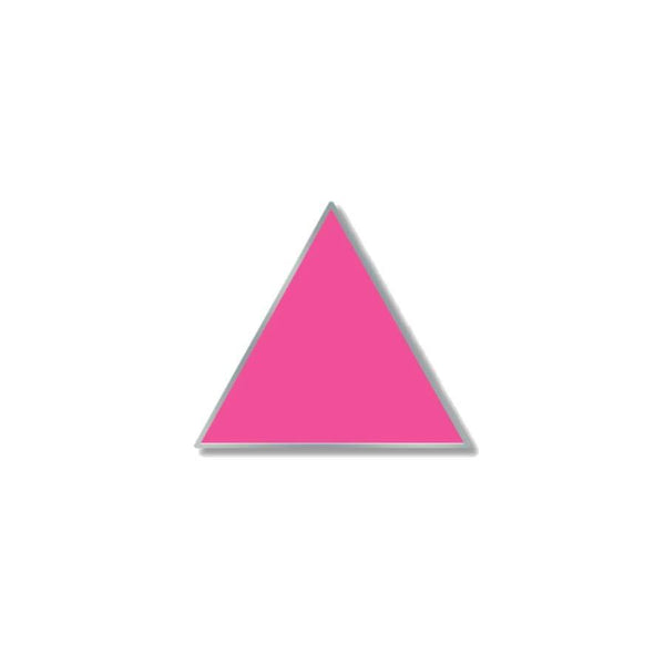 pink triangle enamel pin