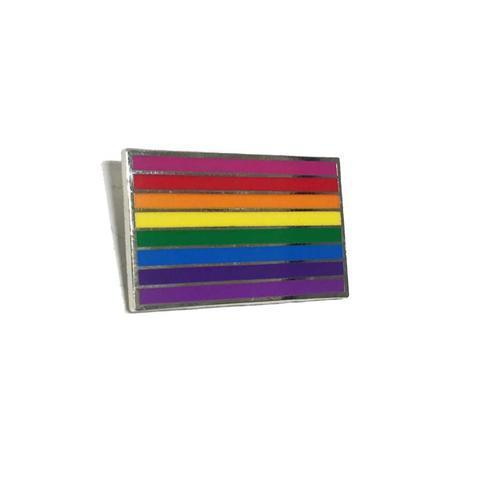 gilbert baker 8 color rainbow enamel pin