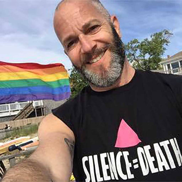 Silence = Death act up Sleeveless T-shirt supporting the Ali Forney Center adam singer