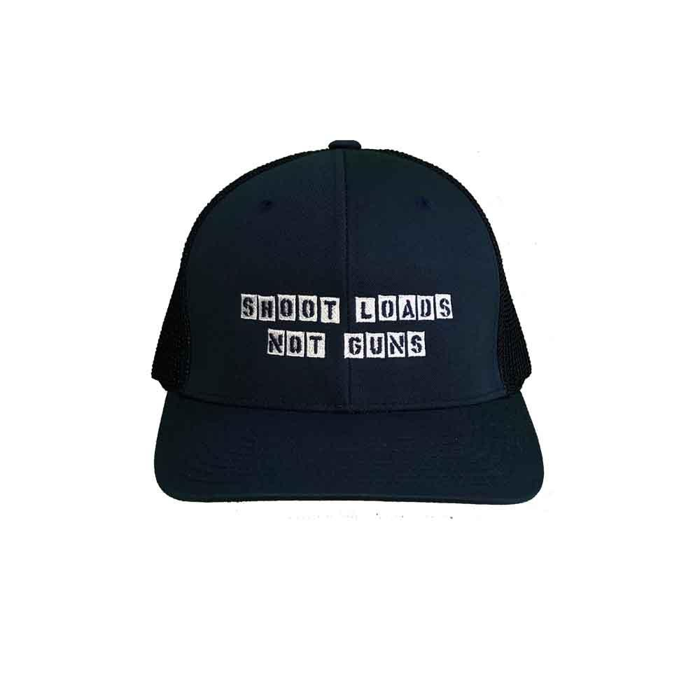 Shoot Loads Not Guns Flexfit Mesh Trucker Hat