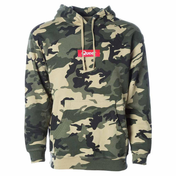 Queer Pullover Heavyweight Army Camo Hooded Sweatshirt